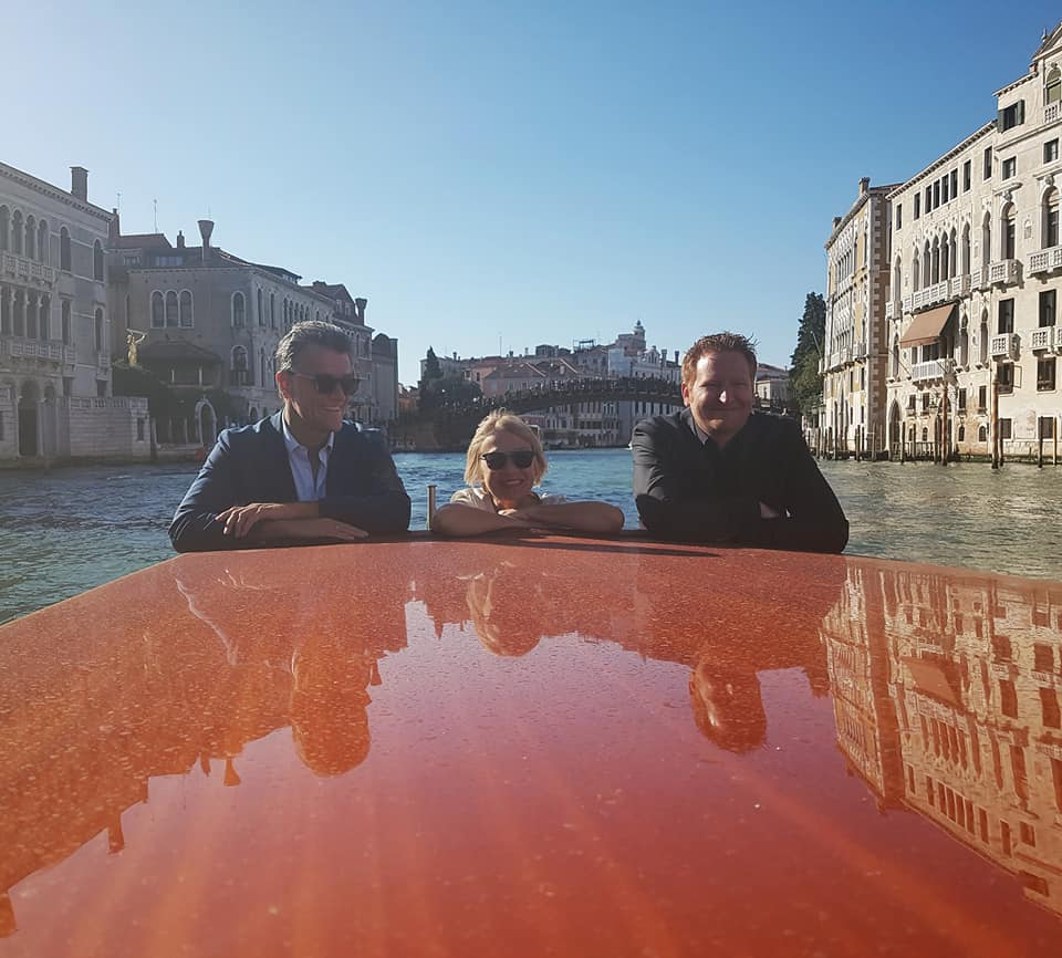 Event founder, Heimo Hammer, on the boat tour of Venice